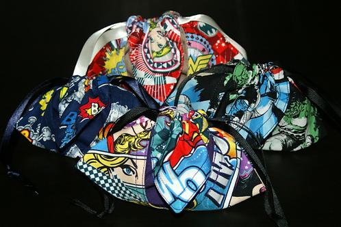 Comic dice bags