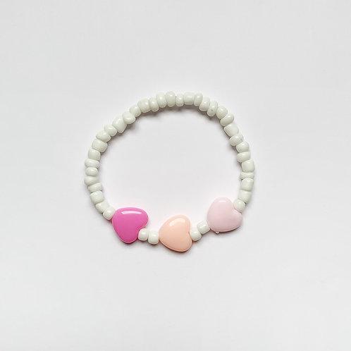 Seed Bead Chunky Heart Bracelet
