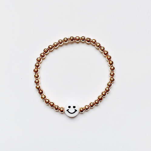 Chunky Smiley Face Bracelet
