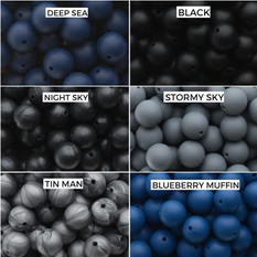 Deep Sea, Black  Night Sky, Stormy Sky  Tin Man, Blueberry Muffin