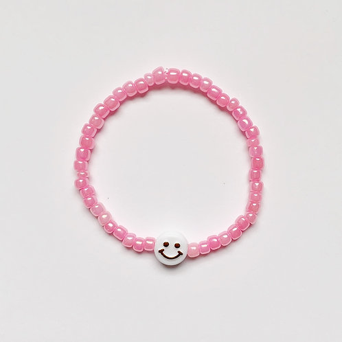 Seed Bead Chunky Smiley Face Bracelet