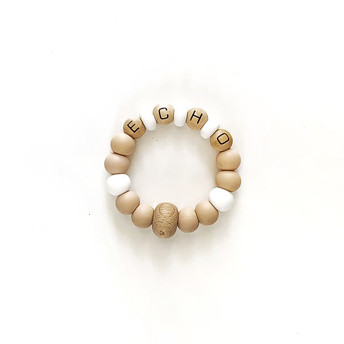 Abacus Personalized Teething Ring