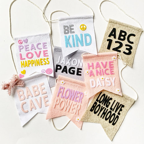 Personalized Hanging cutieFLAG