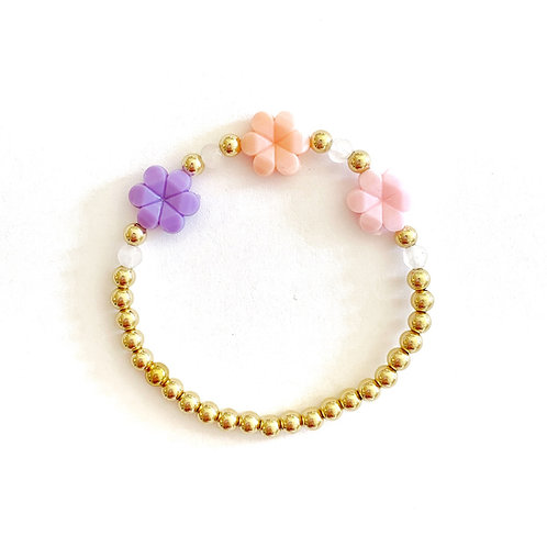 14k Gold Plated Beads - Chunky Flower