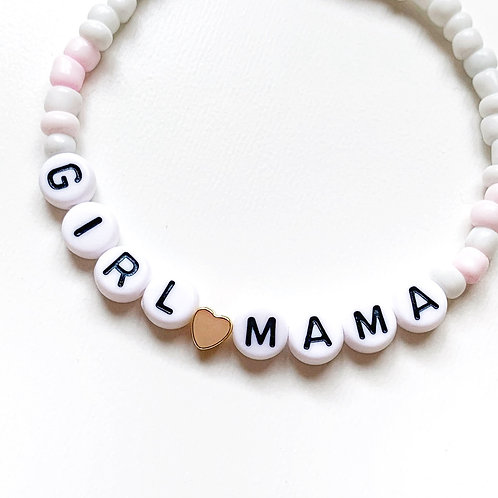 Gold or Silver Plated Flat Heart - Seed Bead Name Bracelet
