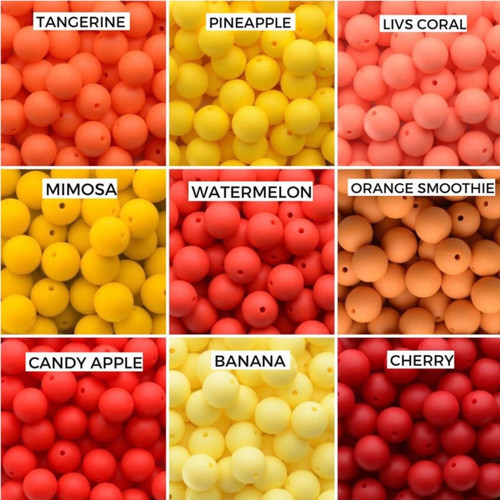 Tangerine, Pineapple, Livs Coral  Mimosa, Watermelon, Orange Smoothie  Candy Apple, Banana, Cherry