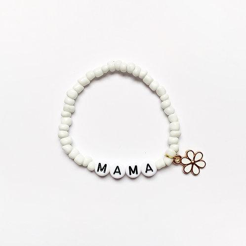 Seed Bead Daisy Charm Bracelet