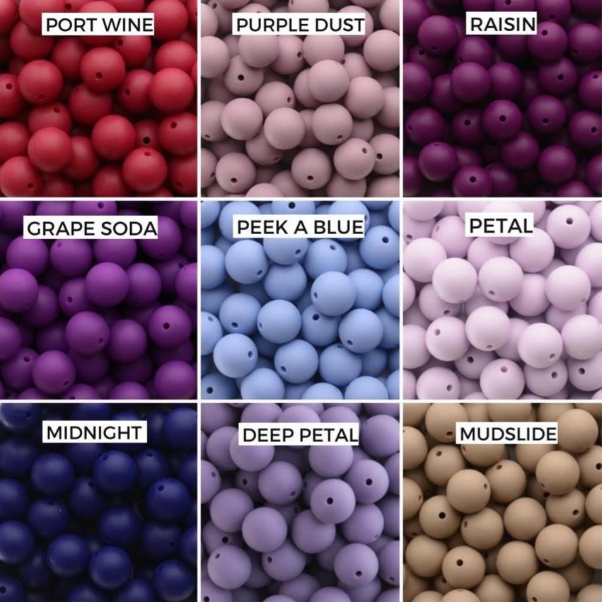 Port Wine, Purple Dust, Raisin  Grape Soda, Peek A Blue, Petal  Midnight, Deep Petal, Mudslide