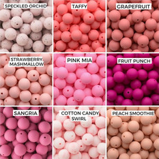 Speckled Orchid, Taffy, Grapefruit  Strawberry Marshmallow, Pink Mia, Fruit Punch  Sangria, Cotton Candy Swirl, Peach Smoothie