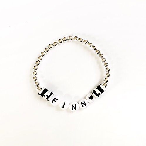 Flat Clay Rounds Name Bracelet