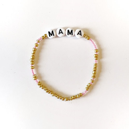 Thin Gold Seed Bead/Glass Seed Bead Name Bracelet