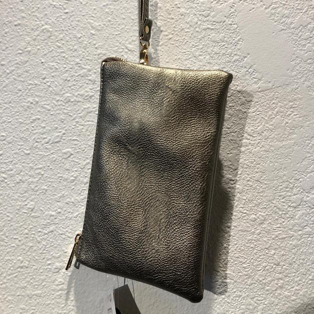 Silver Metallic Clutch $29