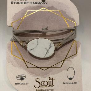 Howlite Stone Wrap Bracelet/Necklace $24.95