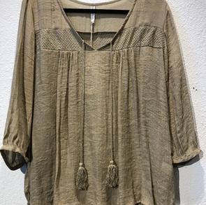 Olive Long Sleeved Top $45