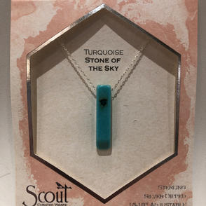 Turquoise Stone Pendant Necklace $27.95