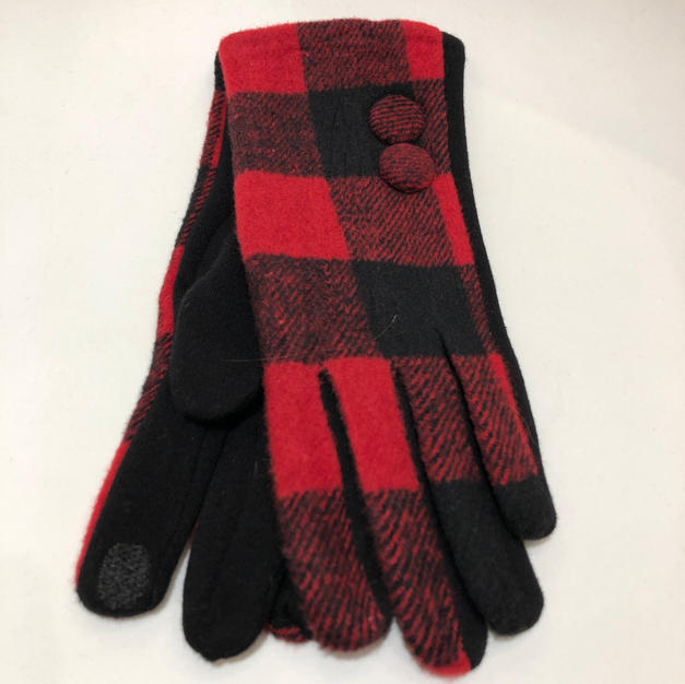 Plaid Touch Screen Gloves $14.95