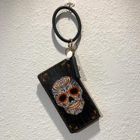 Sugar Skull Hoop Wristlet $28.95