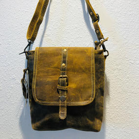 Myra Distressed Leather Crossbody $75