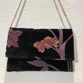 Black Velvet Clutch w/shoulder chain $39
