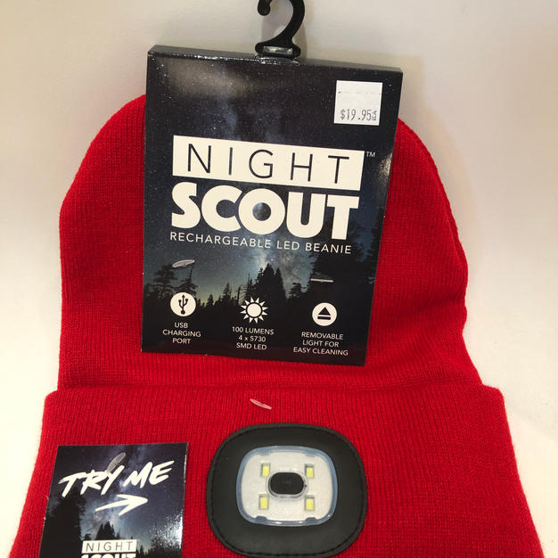Rechargeable Lighted Stocking Cap Red $19.95