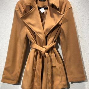 Camel Belted Jacket $29