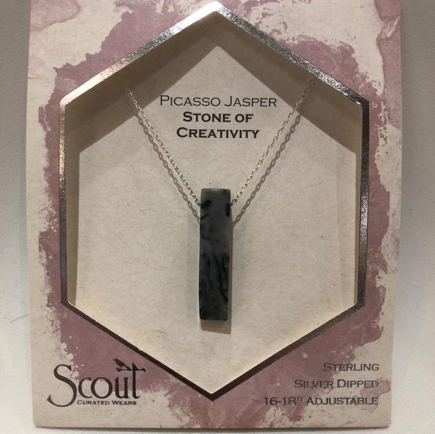 Picasso Jasper Stone Pendant Necklace $27.95