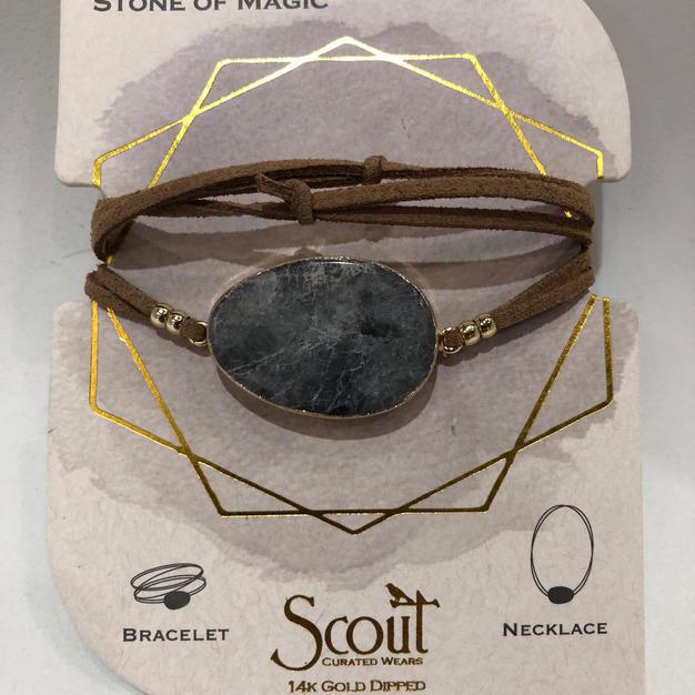 Labradorite Stone Wrap Bracelet/Necklace $24.95