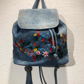 Embroidered Denim Back Pack $41