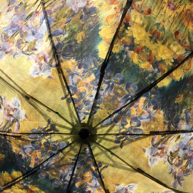 Peonies & Irises Reverse Close Umbrella $39
