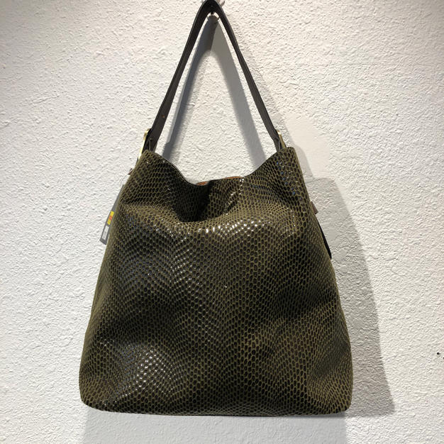 Green Reptile Shoulder Bag $45