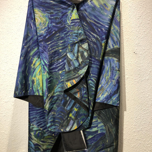 Reversible Rain Poncho Starry Night $69