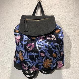 Embroidered Denim Back Pack $29