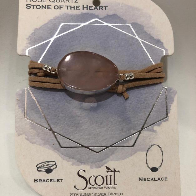 Rose Quartz Stone Wrap Bracelet/Necklace $24.95