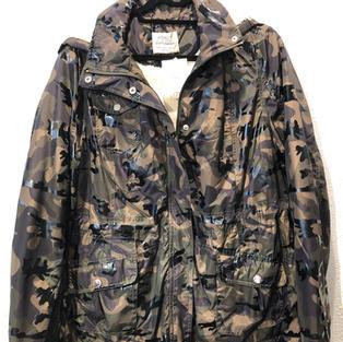 Fleece Lined Shiny Camo Jacket $38