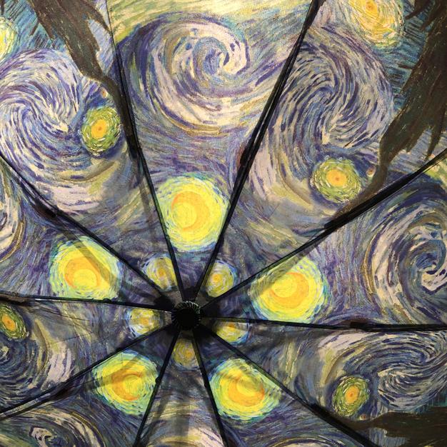 Starry Night Reverse Close Umbrella $39