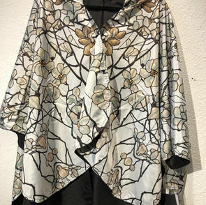 Reversible Rain Poncho Tiffany's Magnolias $69