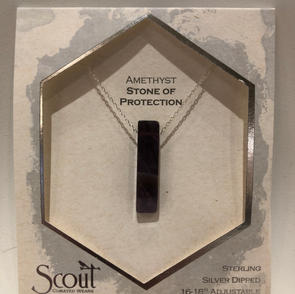 Amethyst Stone Pendant Necklace $27.95