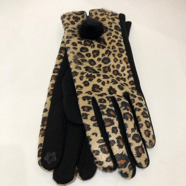 Animal Print Touch Screen Gloves $14.95