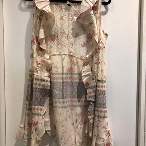 Long Vest w/Ruffles $59.00