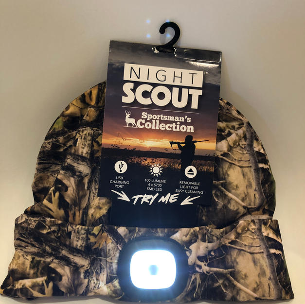 Rechargeable Lighted Camo Stocking Cap $21.95