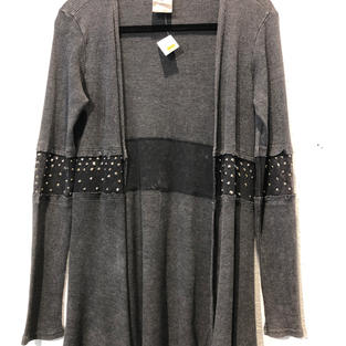 Distressed Studded Duster $25