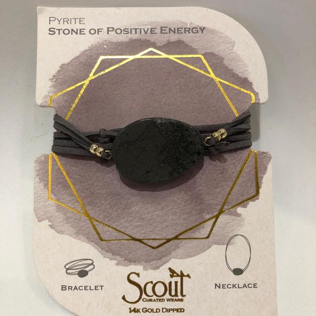Pyrite Stone Wrap Bracelet/Necklace $24.95