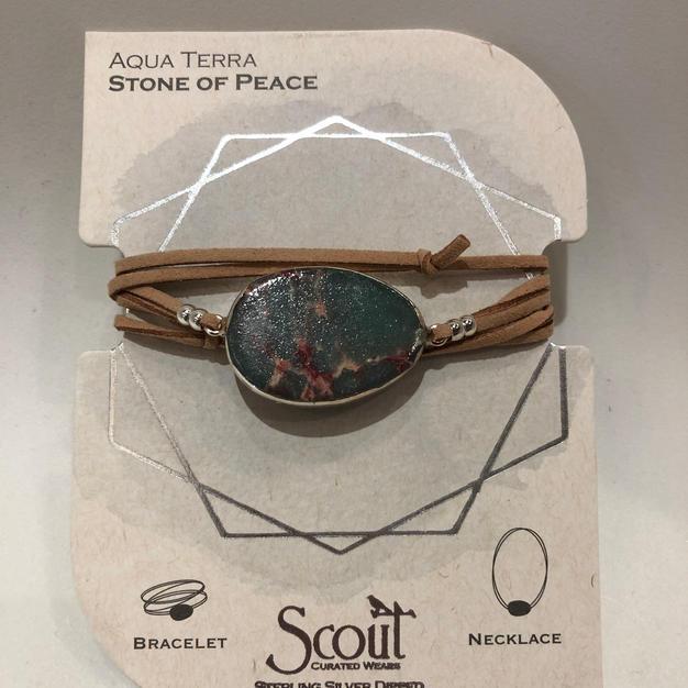 Aqua Terra Stone Wrap Bracelet/Necklace $24.95