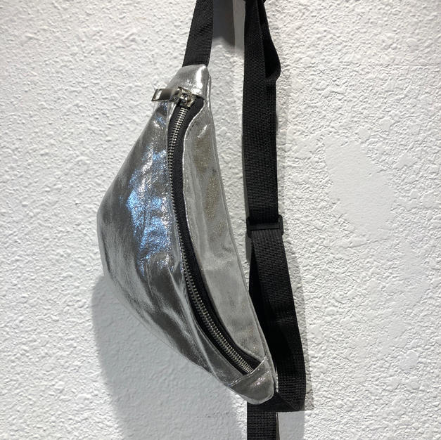 Metallic Silver Fanny Pack $15.95