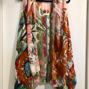 Floral Sheer Long Vest $32.50