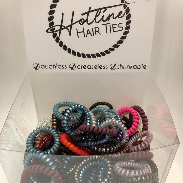 Hotline Hair Ties $1.75ea. or 5 for $7.00