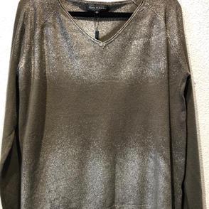 Olive Metallic Long Sleeved Top $57.50