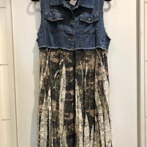 Denim Camo Vest/Skirt $72.00