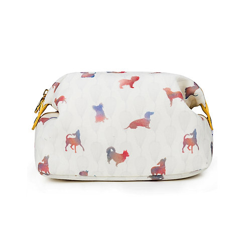 Canvas Make-up Bag Colourful Dogs