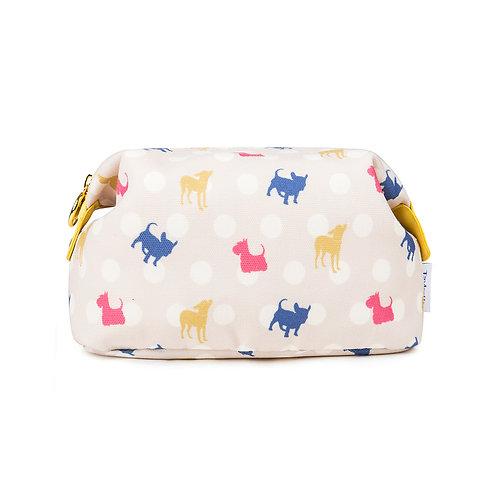 Canvas Make-up Bag Polka Dot Dogs